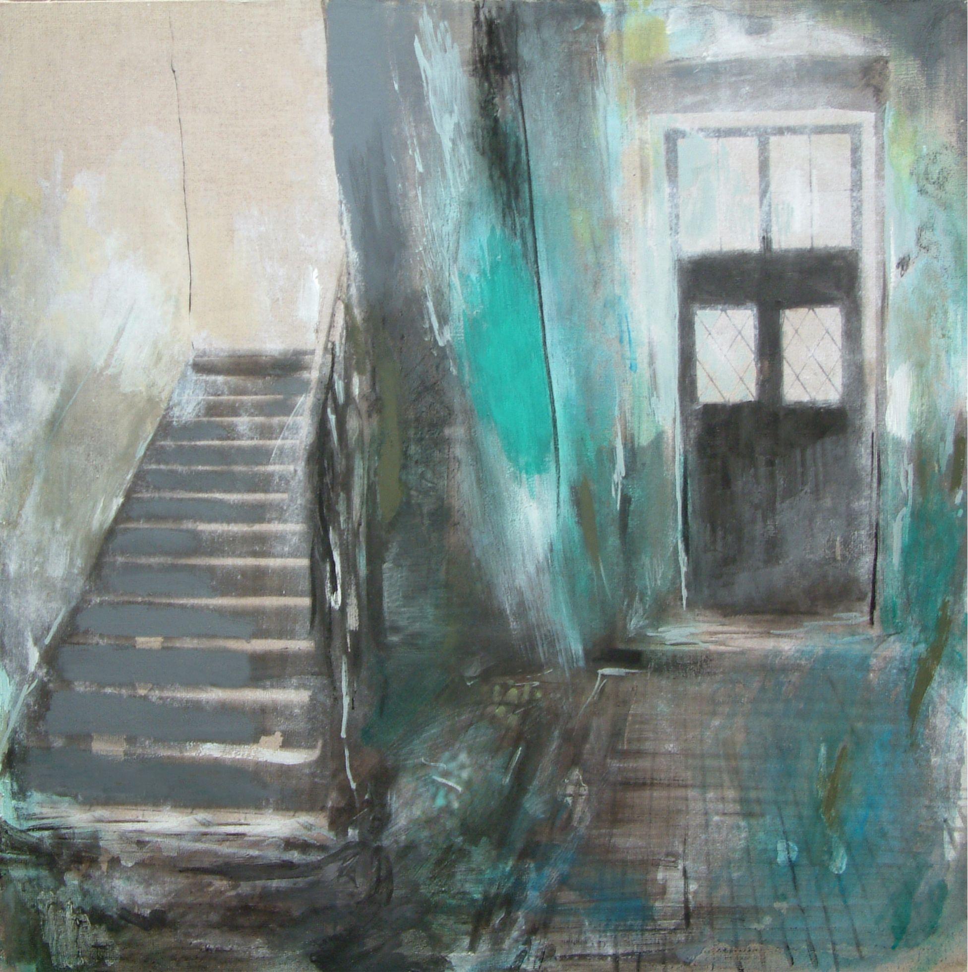 Alina Picazio - Szmaragdowe schody 60x60 (2)