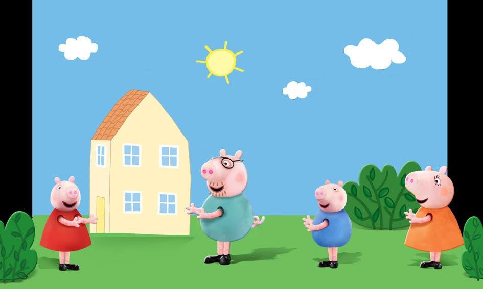 Wizualizacja ustawienia dekoracji - Świnka Peppa, Wielka Niespodzianka (2)
